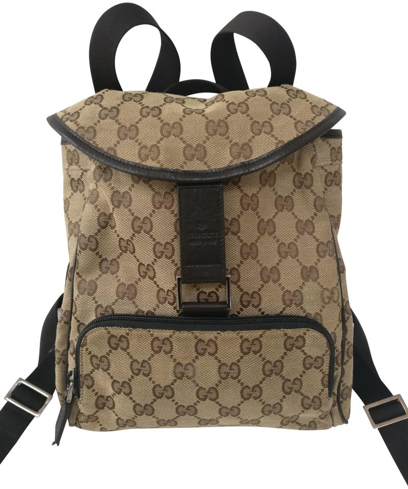 512b1ecefbf Gucci Gg Supreme Monogram Beige Canvas Backpack - Tradesy