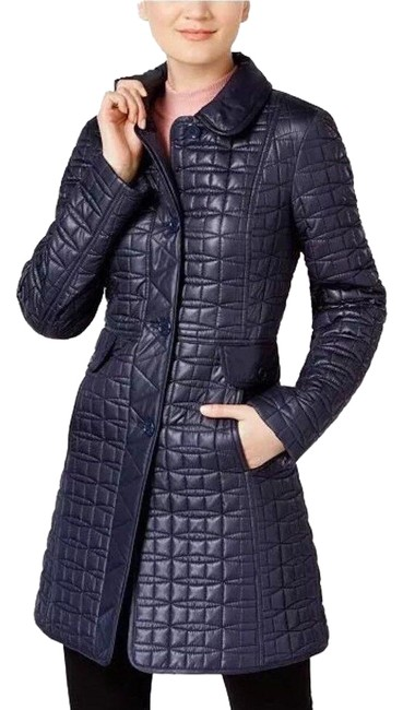 Item - Blue A-line Quilted Winter Coat Size 8 (M)