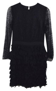 Cynthia Rowley Lace Longsleeve Silk Formal Dress