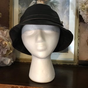 Coach COACH LEATHER BUCKET STYLE HAT