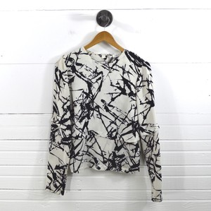 A.L.C. Fall Winter Holiday Classic Print Top Black/White