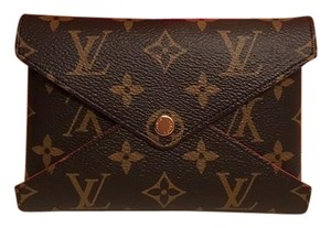 Louis Vuitton Brown and Red Clutch