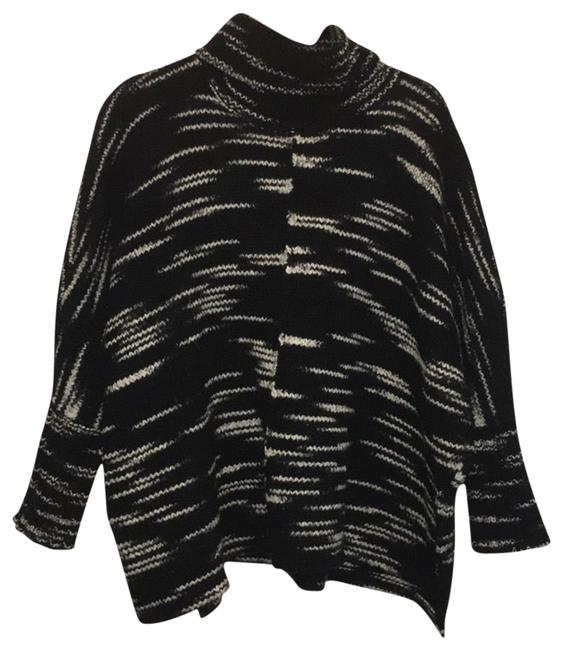 Item - Cowl Neck Black and White Sweater
