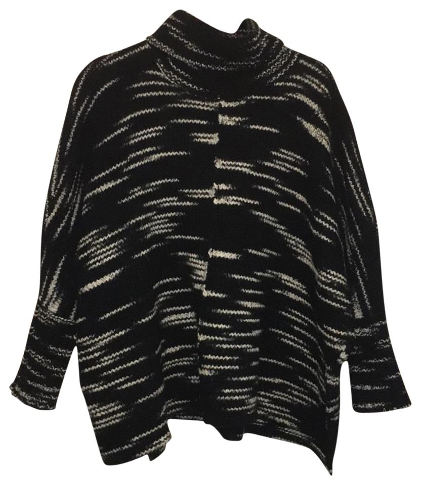 INTERMIX Cowl Neck Black and White Sweater - Tradesy 70d1c0241