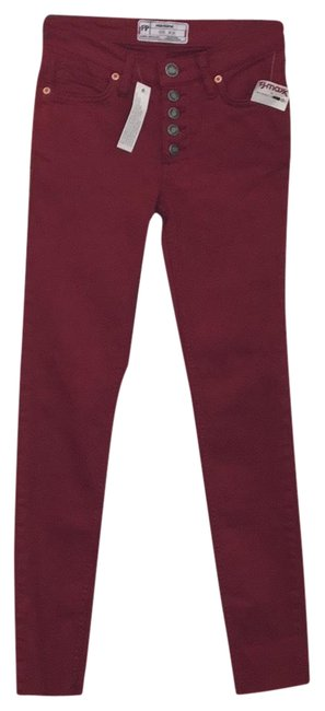 Item - Red Button Fly Pants Size 00 (XXS, 24)