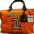 Moschino Tote in Orange / Black