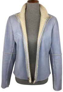 Velvet by Graham & Spencer Sherpa Suede Panel Periwinkle Blue Jacket