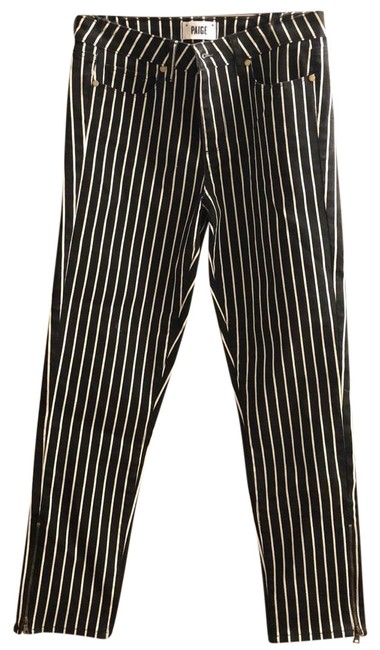 Item - Black and White Stripes Skinny Jeans Size 8 (M, 29, 30)