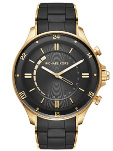 Michael Kors Michael Kors Men's Reid Black Gold Two Tone Hybrid Smartwatch MKT4017