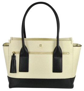 Kate Spade Leather New York Gold Hardware Tote in Tan