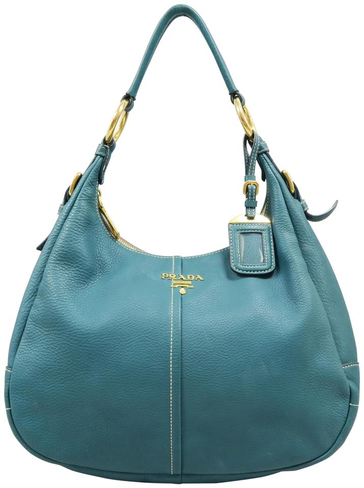 7a9ed70f534b Prada Soft Calf Lightseagreen Calfskin Hobo Bag - Tradesy