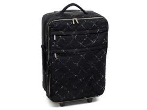 Chanel Pegase Rolling Trolley Suitcase Duffle Black Travel Bag