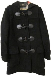 Burberry Wool-blend Classic Duffle Signature Check Trench Coat