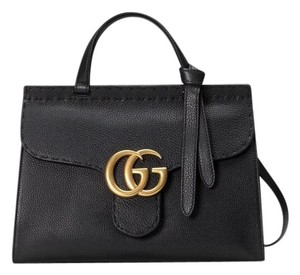 Added to Shopping Bag. Gucci Shoulder Bag. Gucci Marmont Gg Black Leather  ... b3490dcdc87eb