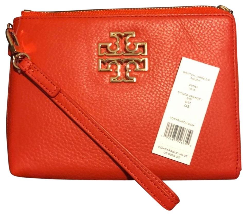 6e87e006007 Tory Burch Spiced Orange Britten Large Pouch Wallet - Tradesy