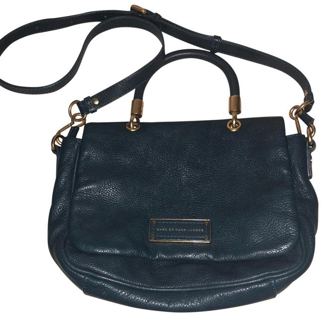 Item - Turquoise Blue Leather Tote