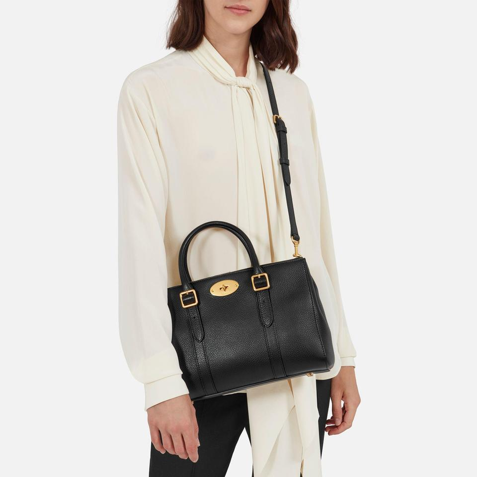Mulberry Small Bayswater Double Zip Tote Black Leather Satchel - Tradesy 91b329cee42d6