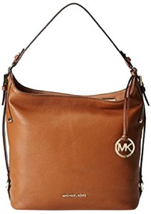 Michael Kors Venus Leather Pebbled Leather Mk Charm Hobo Shoulder Bag