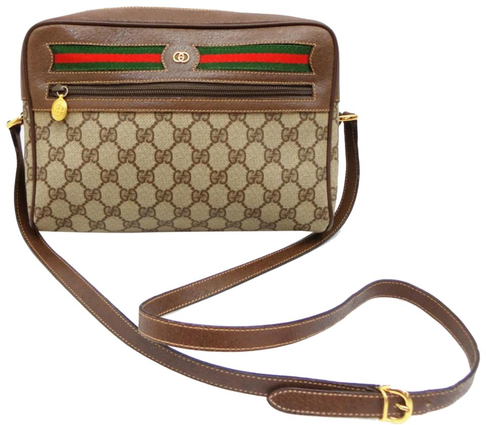 b2469c141608a Gucci Supreme Monogram Gg Ophidia Medium Camera 232355 Beige  Brown ...