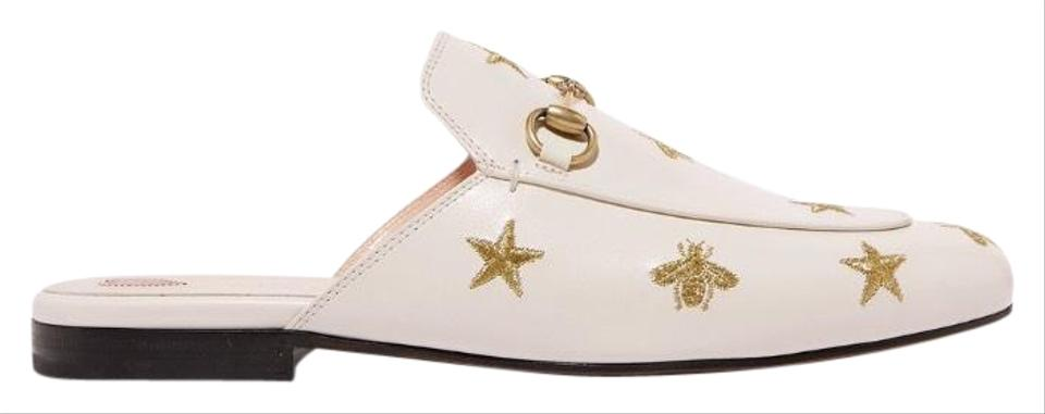 b26a832f8ab Gucci Horsebit Princetown Bee Star Embroidered Leather Flats Size US ...
