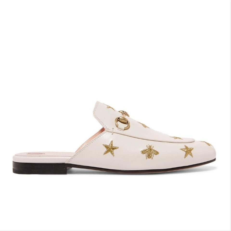 2e96fc90e Gucci Horsebit Princetown Bee Star Embroidered Leather Flats Size US ...