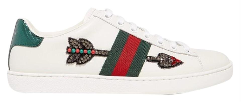 70f923b9154 Gucci Ace Crystal Arrow Embellished Leather Sneakers Sneakers Size ...