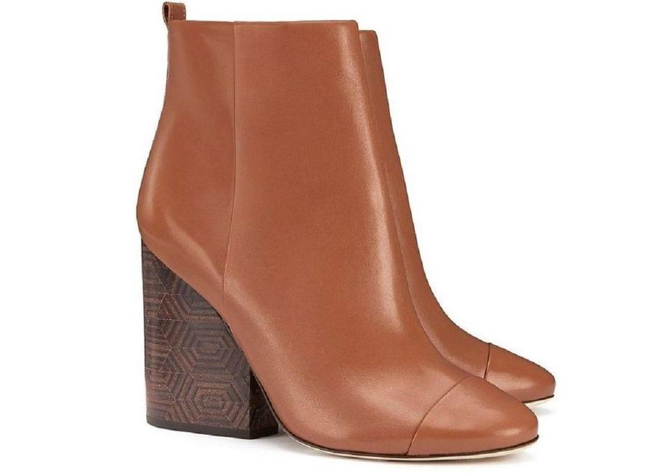 658f3289ee2d Tory Burch Brown Grove 100mm Royal Tan Calf Leather Ankle Boots Booties.  Size  US 8 ...