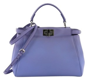 Fendi Peekaboo Leather Tote in Purple
