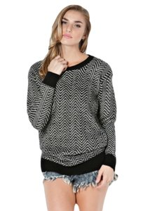 B Sharp Chevron Zigzag Sweater