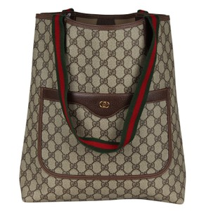 45f5cf584fe Gucci Monogram Shoulder Bags Laptop Bags Weekend Travel Bags Tote in Brown
