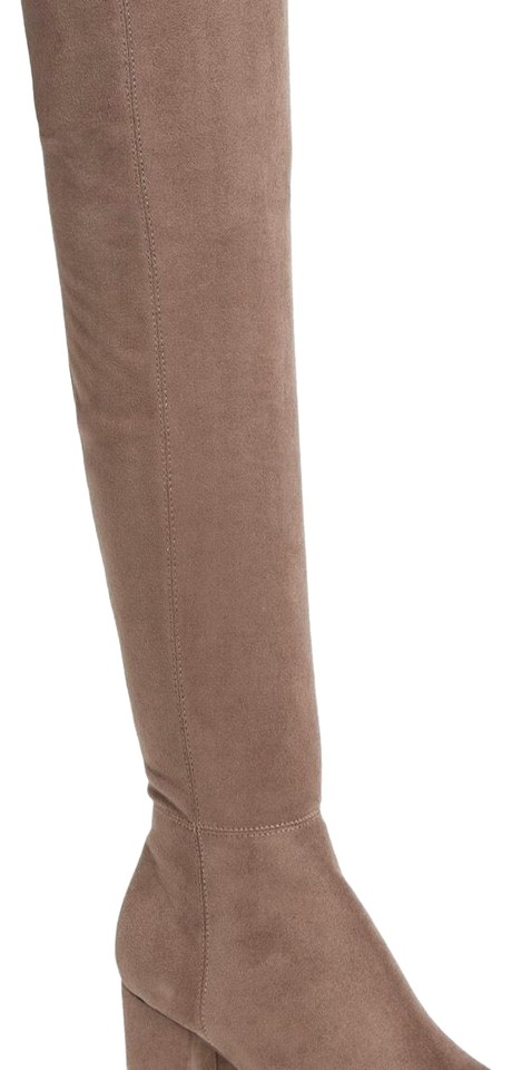 87ec8bd118e Steve Madden Taupe Brinkley Over The Knee Stretch Boots Booties Size ...
