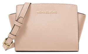 Michael Kors Leather 32h3glmc1l Black Cross Body Bag