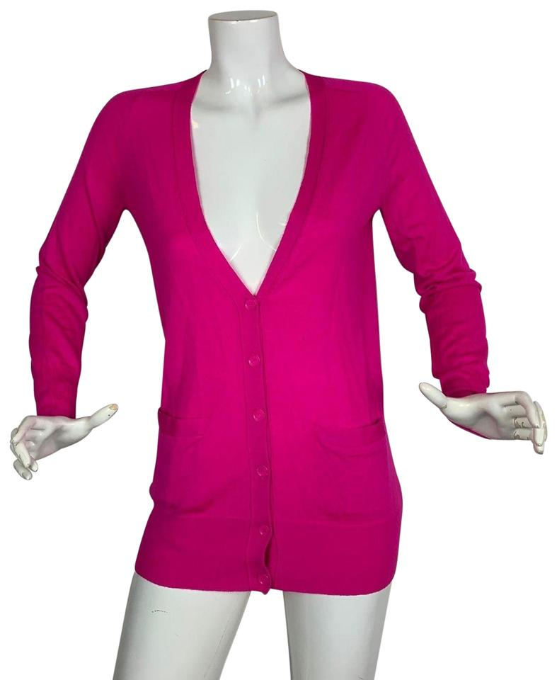 new collection online sale save off J.Crew Cardigan Merino Wool Pockets Women Size S Hot Pink Sweater 86% off  retail