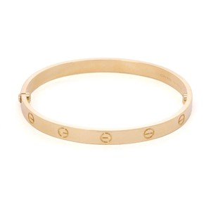 Cartier Love New Style 18k Yellow Gold Screw Bangle Size 19 Screwdriver Paper