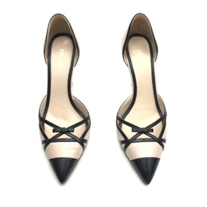 Prada Heels Capretto Cut Out Black Pink Pumps