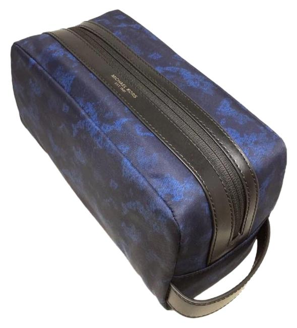 Item - Blue Kent Travel Pouch Case Toiletry Holder Camo Print Cosmetic Bag