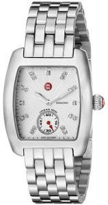 Michele Silver Bracelet Diamond Dial Urban Mini MWW02A000502 Swiss