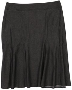 Larry Levine Stretchy Denim Skirt Black