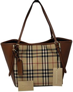 Burberry Tote In Brown Cream