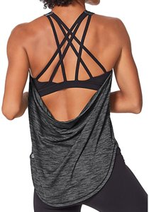 Lululemon Lululemon Heathered Black Free To Be Serene Tank (2 in 1)