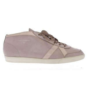 Dolce&Gabbana Gray / Beige D11100-4 Leather Casual Sport Sneakers (Eu 39.5 / Us 6.5) Shoes