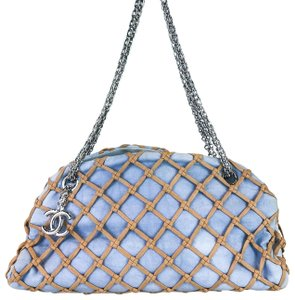 Chanel Denim Bowler Shoulder Bag