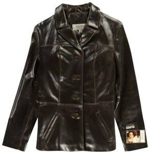 Wilsons Leather Sporty Brown Leather Jacket