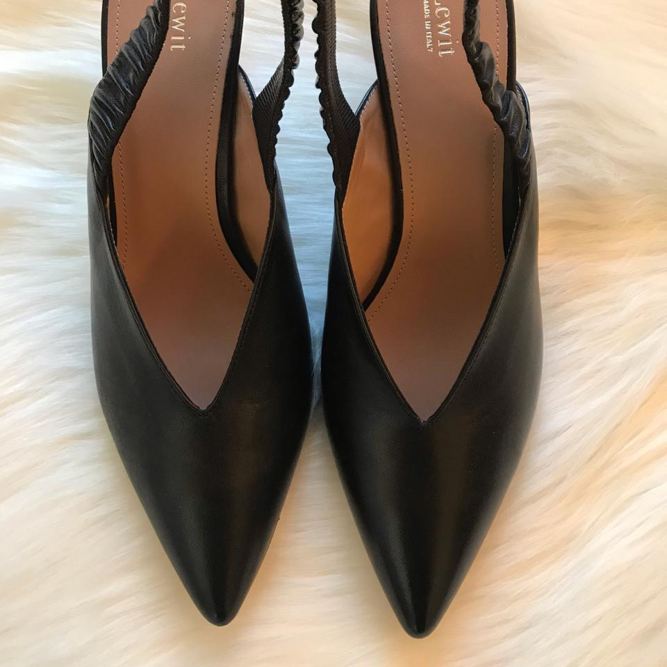 9b620e7ea5e Lewit Black Marta Slingback Pumps Size US 8 Regular (M