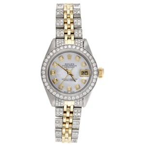 Rolex Ladies 6917 Rolex Diamond Watch MOP Dial DateJust Jubilee Band 2.60 CT