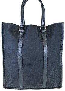 Fendi Zucca Large Tote in Black
