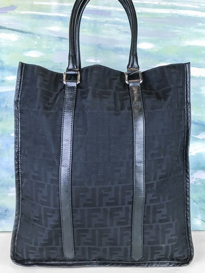 Fendi Zucca Large Tote in Black Image 4
