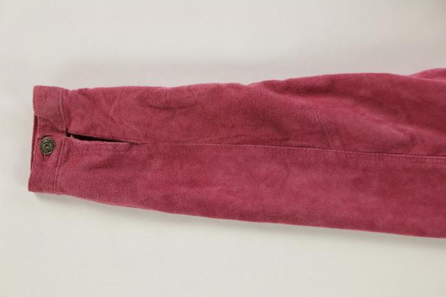 For Joseph Suede Satin Pink Leather Jacket Image 6