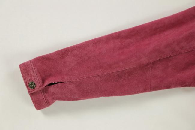 For Joseph Suede Satin Pink Leather Jacket Image 5