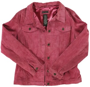 For Joseph Suede Satin Pink Leather Jacket